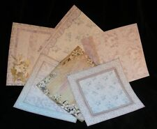 6 Assorted Traditional Floral 8 X 8 Inch Sheets of Quality Scrapbooking Paper