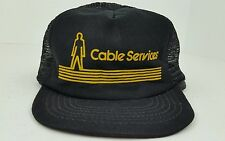 Vintage Cable Services Williamsport, PA One Size Adult Snap Back Trucker Hat
