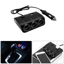 3 Way Multi Car Cigarette Lighter Socket Extension Splitter Charger USB DC12V