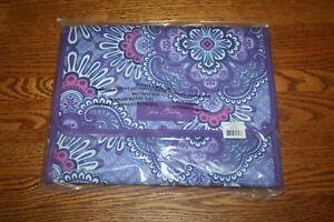 Vera Bradley Jewelry Organizer Folio Travel Lilac Tapestry Stow Go purple NEW