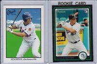 (2) Rookie Lot Mike Giancarlo Stanton 2009 Tristar Obak, 2010 Bowman RC Yankees