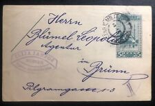 1908 Mostar Bosnia Herzegovina KUK Military PO Postcard Cover To Brunn Austria