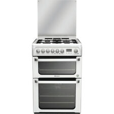 Hotpoint 60cm Dual Fuel Double Cooker with Gas Hob - White