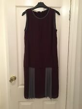 STEFANEL Womens Waistless Dress Size Us 8 Uk 10 Very Unusual Lovely Dress Wine