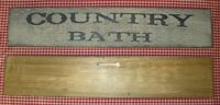 """Beautiful Rustic Primitive Sign """"COUNTRY BATH"""" Country Home Decor"""