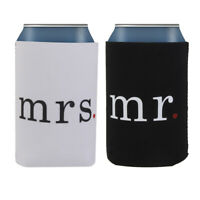 Bomboniera Per Matrimonio 2 Pezzi Stubby Tin Can Cooler Cooler Holder Wedding 2