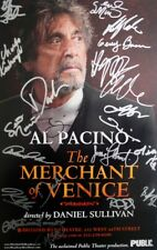AL PACINO Signed MERCHANT OF VENICE Broadway Poster 2010 -19 Cast Signed