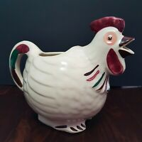 Vintage Chanticleer Art Pottery Rooster Pitcher Jug 1940s