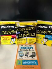 LOT OF 4 BOOKS WINDOWS FOR DUMMIES  XP VISTA 95 EASIEST COMPUTER BOOK