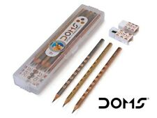 100X DOMS Groove Slim Triangle Pencil Home School Office Architect Use