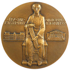 France THE ELECTION OF ALBERT LEBRUN AS PRESIDENT By Dropsy bronze 72mm cased