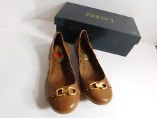 LAUREN - RALPH LAUREN -  Brand new ballet flat leather shoes Size 6B