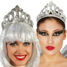 Silver Sequin Princess Queen Tiara Headdress Bling Fancy Dress Accessory