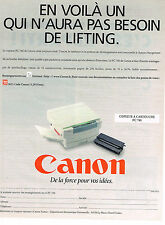 PUBLICITE ADVERTISING 094  1996  CANON   copieur à cartouche