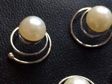 Pearl Hair Curlies, bridal hair pin, bridal pearls, prom hair, hair pins
