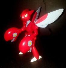 2001 Nintendo Hasbro Pokemon Go Deluxe Scizor 6 inch Figure RARE Sound Working
