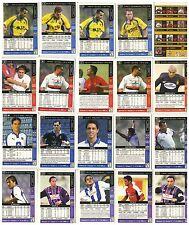 Liga 2002  LOTE 20  FICHAS. VALLADOLID VILLARREAL TENERIFE