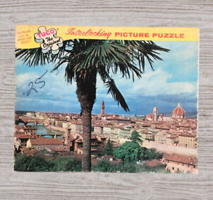 """Tuco Original Interlocking Picture Puzzle """"View of Florence, Italy"""" Wood-like"""
