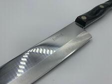 """Vintage CUTCO 1725 Chef Kitchen Knife 9.25"""" Blade Dark Brown Marbled Handle 1990"""