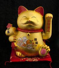 Grand Chat Japonais Maneki Neko en Ceramique-31 cm-bonheur et Prosperite -409