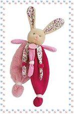 ☺ - Doudou Peluche  Lapin Poupi Rose Fuchsia Baby Nat Neuf