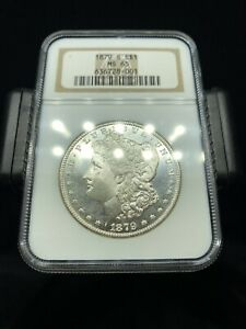 1879 S Morgan Silver Dollar NGC MS65 WOW Coin PL Surfaces- No Reserve.