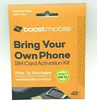 New ListingNew Sim cards Supports all Phones Boost Mobile 4-in-1 Pack iPhone Samsung Galaxy