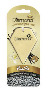 Diamond Scented Gel Car Air Freshener Freshner Fragrance Scent - VANILLA