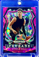 LAMELO BALL 2020-21 PANINI PRIZM PINK ICE #83 DRAFT PICKS ROOKIE RC HORNETS