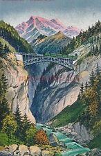 AK, Grafik, Mittenwaldbahn - Schloßbachbrücke, 1928; 5026-42