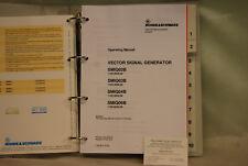 Rohde & Schwarz smiq 02B Generador de señales vectoriales volumen 1 manual de operación