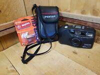 Pentax IQZoom EZY 35mm Point & Shoot Camera EUC 38-70mm zoom Autofocus + Battery