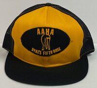 AAHA Dyke's Fifth Base Snapback Trucker Style Mesh Hat, London Cap 1980's