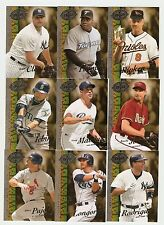 2008 Baseball UD 20th anniversary hobby lot of 9,Longoria (RC),Pujols,Ripkin...