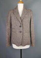 Joules Dunmere jacket Brown Wool Tweed Check Riding Blazer UK 12 M