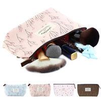 1x Flower Floral Pencil Pen Case Cosmetic Makeup Bag Storage Pouch Purse UK