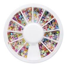 Nail Art UV Acrylic Tips Mix Star Flake Glitters Decoration Wheel