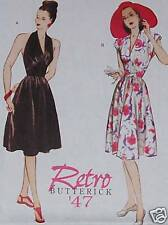 1947 Vintage RETRO party dress sundress pattern 6 - 12