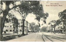 GREAT BARRINGTON MA MAIN ST. c1910 BERKSHIRES