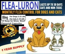 Monthly Flea Control For Dogs 2-25 Lbs & Cats 2-10 Lbs, 1 Year 12 Capsules, 80mg