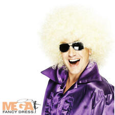 1970s Huge Blonde Afro Wig Adults Fancy Dress 70s Mens Ladies Costume Accessory