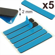 5x Car Van Number Plate Sticky Pads Double Sided Adhesive Fixing 2mm Tape Strips