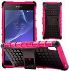 Housse Etui Coque Rigide Anti Choc Armor Support Hybrid Pour Sony Xperia Z2