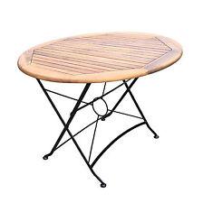 Flex Gartentisch Bistrotisch Ø100 Klapptisch Tisch Balkontisch Holztisch Akazie