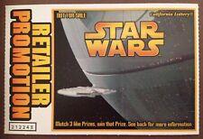 Star Wars Death Star Millenium Falcon Retailer Promo Trading Card Lottery Ticket