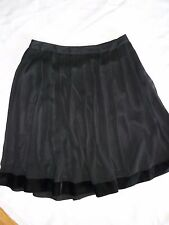 Womens Nicole Miller Black Pleated Polyester Skirt Fully Lined size 8 New