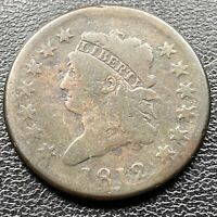 1812 Large Cent Classic Head One Cent 1c Rare Better Grade #22626