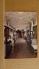 Postcard unposted Montgomeryshire, Welshpool, Powis castle, The long Gallery