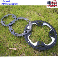 104/64bcd Double/Triple 10S Aluminum 24/26/32/38/42t MTB Bike Crankset Chainring