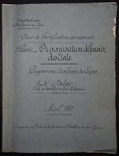 CBA DELAIR: Organisation défensive des Etats - Fortification  / 1881
